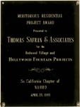 Southern California Chapter of NAHRO - Meritorious Residential Project Award - 