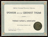California Community Reinvestment Corporation - Sponsor With The Greenest Thumb