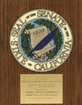 State of California Senate - Hollywood Beautification Award - 