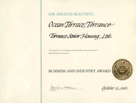 Los Angeles Beautiful - Business and Industry Award - Ocean Terrace