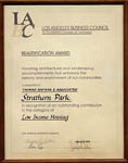 Los Angeles Business Council - Beautification Award - Strathern Park