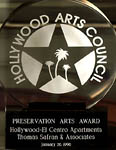 Hollywood Arts Council - Preservation Arts Award - Hollywood El Centro