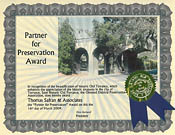 Olmsted Districts Preservation Association - Partner for Preservation Award