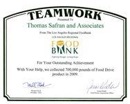 Los Angeles Regional Food Bank - Outstanding Achievement