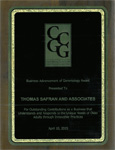 California Council on Gerontology & Geriatrics - Business Advancement of Gerontology Award