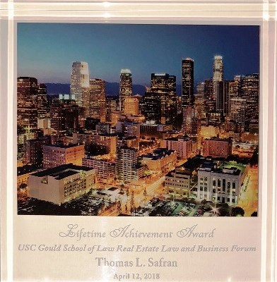 Lifetime Achievement Award - Thomas L. Safran - 