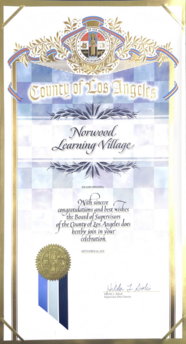 County of Los Angeles - Certificate of Recognition - 