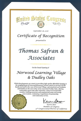 United States Congress - Certificate of Recognition - 