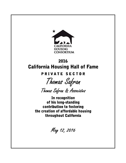 California Housing Consortium - 2016 Hall of Fame - Private Sector